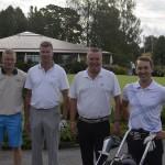 Yhdessä golffanneet Team Peri ja Team Ilmarinen. Matti Koskela, Janne Suntio, Heikki Isotupa ja Jouni Saarinen.
