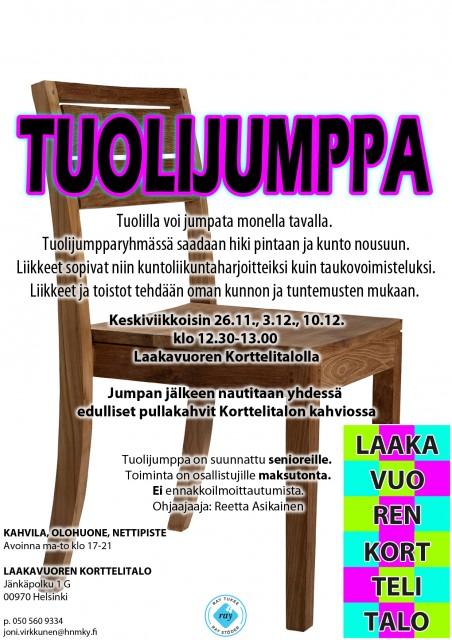 Laakavuoren korttelitalo tuolijumppa