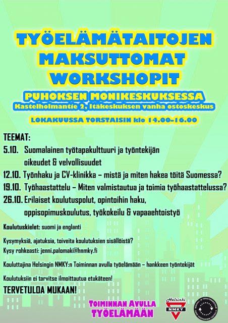 PUHOS Työlämätaitojen maksuttomat Workshopit