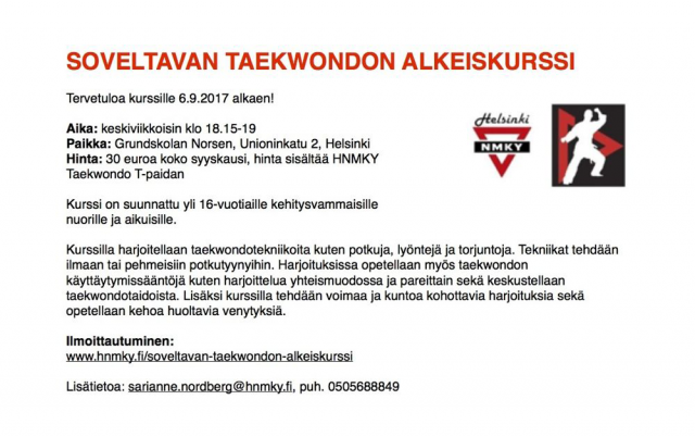 SoveltavataekwondoSyksy2017esite