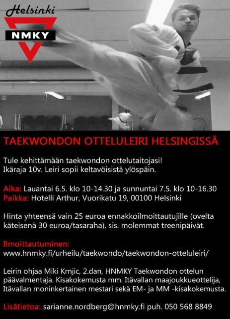 taekwondon otteluleiri
