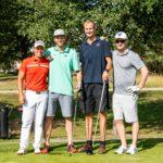 Golf Challengen Susijengi-starat Petteri Koponen (toinen vas.) ja Jukka Toijala (oik.) Golf Challengen voittaja joukkueen Golfbasketin, Mikko Koivisto (oik.) ja Mara Kuisma (toinen oik. seurassa)